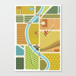 from above in the skies of Picardy Canvas Print