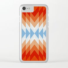 Minimalist orange and red Clear iPhone Case