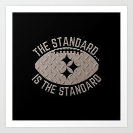 Pittsburgh Steel City Football The Standard Metal Black 412 Art Print