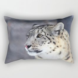 Concerned Mama Snow Leopard Rectangular Pillow