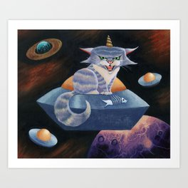 The Space Kitty Art Print