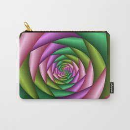 Fractal Colorful Tunnel Carry-All Pouch