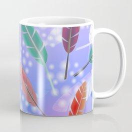 Feathers and Fairy Lights (Midnight Sun) Coffee Mug