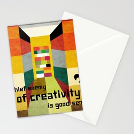 The enemy of creativity Stationery Cards