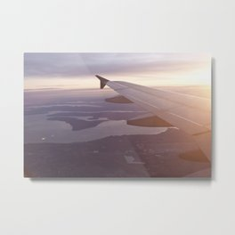 Flying Over the Puget Sound Metal Print