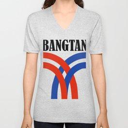 BTS bangtan skytrain Unisex V-Neck
