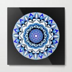 My Peace Mandhala   Secret Geometry   Energy Symbols Metal Print