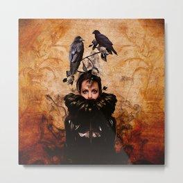 Crow Woman Metal Print
