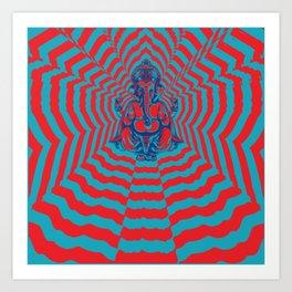 Ganesh Power Art Print