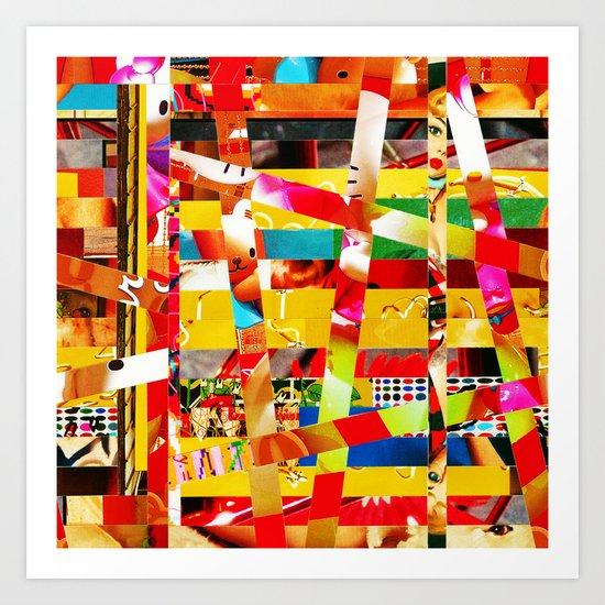 Jiseo (stripes 12) Art Print