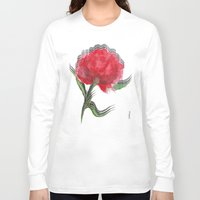 peony Long Sleeve T-shirts featuring Peony by Gosia&Helena