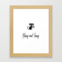 Classy and Sassy Black Cat Framed Art Print