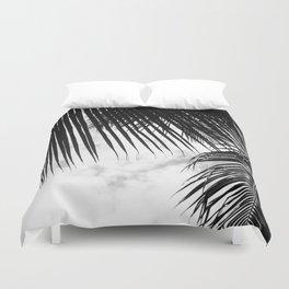 maui paradise palms hawaii monochrome Duvet Cover
