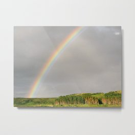 Rainbow on the Isle of Skye, Scotland Metal Print