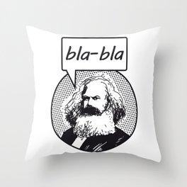 bla-bla Throw Pillow