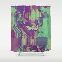 Glitchy 1 Shower Curtain