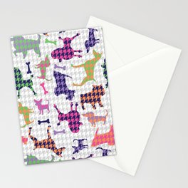 Houndstooth Hounds Stationery Cards