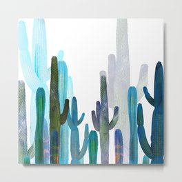 Fresh toned cactus Metal Print