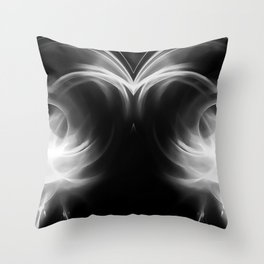 abstract fractals mirrored reacbw Throw Pillow
