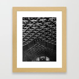 Chicago, Illinois. Model airplanes decorate the ceiling of the train concourses at Union Station Framed Art Print