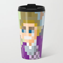 Gene Wilder Pixel Art Travel Mug