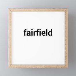 fairfield Framed Mini Art Print