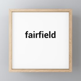 fairfield Framed Mini Art Print