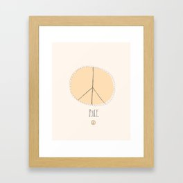 Lovely Little Peace Sign Framed Art Print