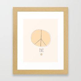 Lovely Little Peace Sign Framed Art Print