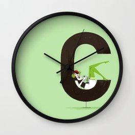 Carla & Din Wall Clock