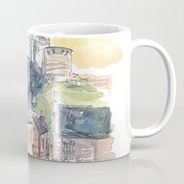 Edinburgh Scotland Street Scene with Castle at Sunset Coffee Mug