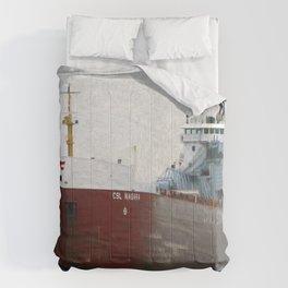 Freighter CSL Niagara Comforters