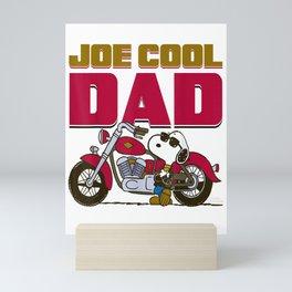 Peanuts Snoopy Joe Cool Dad Motorcycle Mini Art Print