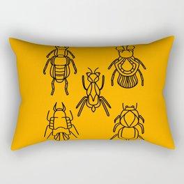 Bugs in orange ant bug Rectangular Pillow