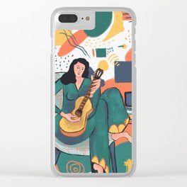In The Mood For Music Clear iPhone Case