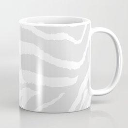 ZEBRA GRAY AND WHITE ANIMAL PRINT Coffee Mug