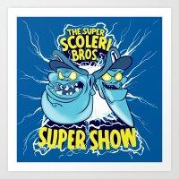 Super Scoleri Brothers Super Show Art Print