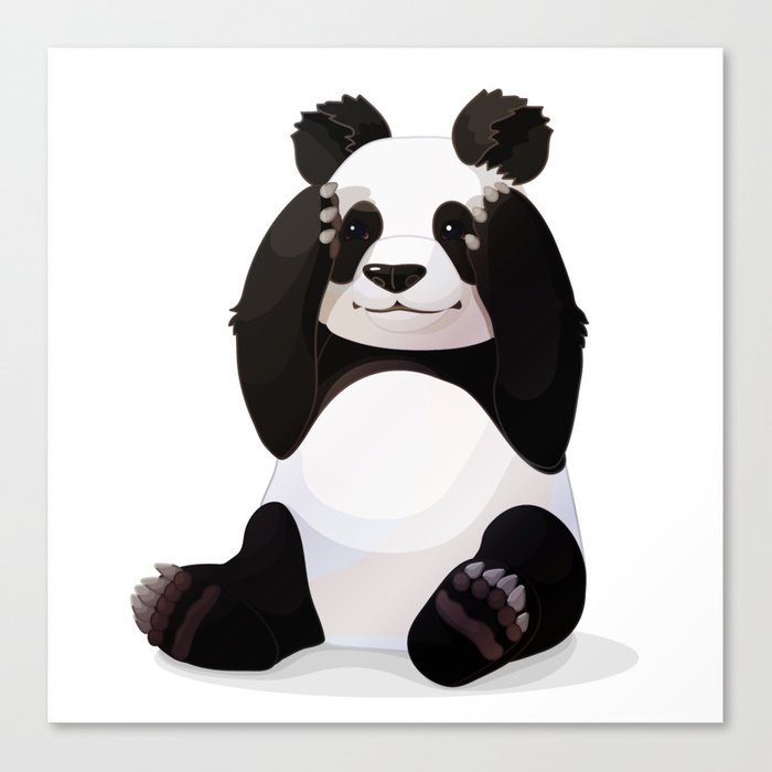 Cute Big Panda Bear Canvas Print By Vetrakori Society6