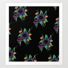 Oil paint flowers Art Print