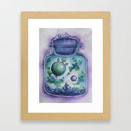 Galaxy in a Bottle Framed Art Print