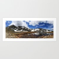 chris evans Art Prints featuring Mt. Evans, Colorado by Chris Root