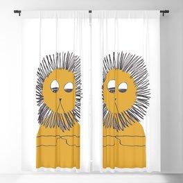 Yellow lion Blackout Curtain