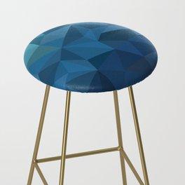 blue geometric Bar Stool