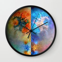 Abstract Rorschach Nebula Wall Clock