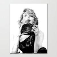 angelina jolie Canvas Prints featuring Angelina Jolie by Jade Chauvin