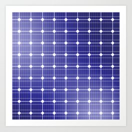 In charge / 3D render of solar panel texture Art Print