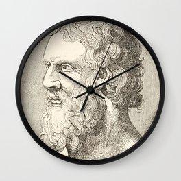 Vintage Plato The Philosopher Illustration Wall Clock