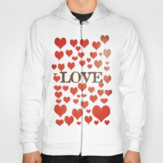 Love Heart Valentines Design  Hoody