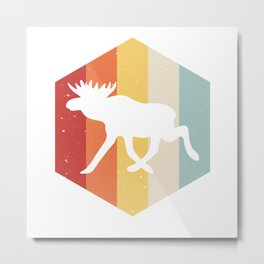 Moose Scandinavia Vintage Retro Norway & Sweden Metal Print