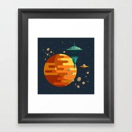 The space base Framed Art Print